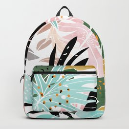 Veronica, Tropical Eclectic Bold Monstera Palm Illustration Nature Modern Colorful Jungle Backpack