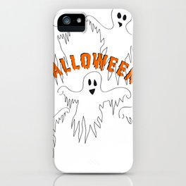 Halloween Ghosts with Typography iPhone Case