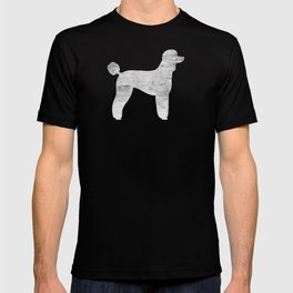White Standard Poodle Silhouette(s) T-shirt