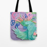 coco Tote Bags featuring Coco by Sarah Underwood Illustration