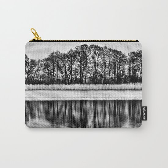 White Symphony of Winter Lake Carry-All Pouch