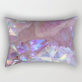 Pink Aura Crystals Rectangular Pillow