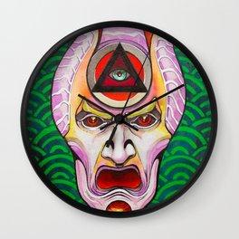 +K26 Kabuki Oni Wall Clock