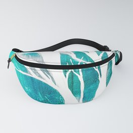 Teal Forests Fanny Pack
