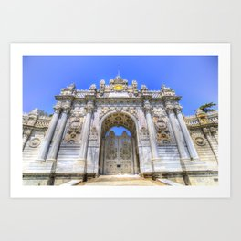 Dolmabahce Palace Istanbul Art Print