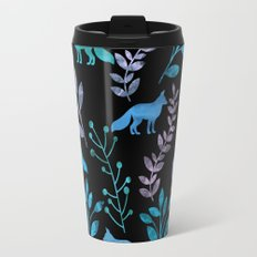 Watercolor Floral & Fox IV Travel Mug