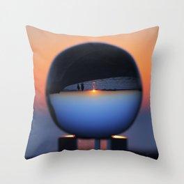 Crystal Ball Blue Hour Throw Pillow