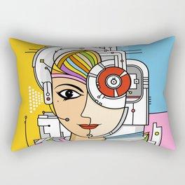 Mujer Robot Rectangular Pillow