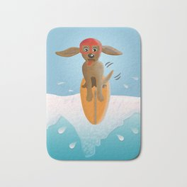 Surf Dog on Top of the Wave Bath Mat
