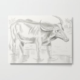 42- Indian Buffalo Metal Print