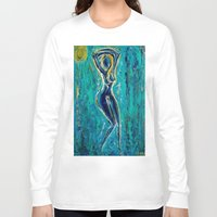 waterfall Long Sleeve T-shirts featuring Waterfall by Kiana Keiser