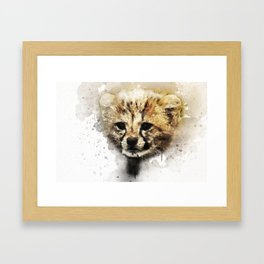 Cheeta Cub Framed Art Print