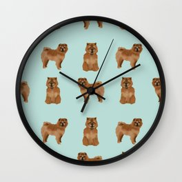 Chow Chow dog breed pure breed pet gifts must have doggo pupper lovers Wall Clock