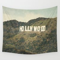 hollywood Wall Tapestries featuring Hollywood (color) by CMcDonald