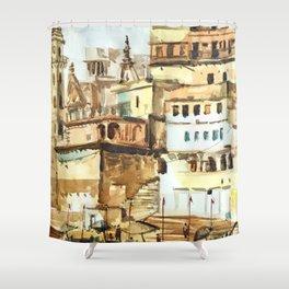 Varanasi India Hindu Pilgrimage Shower Curtain
