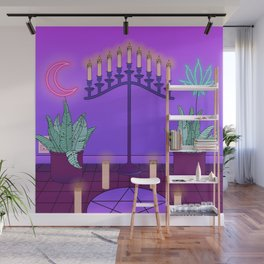 Ultraviolet Temple Wall Mural