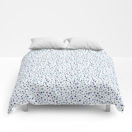 Bubble Rocks-Blue : Part of Organic Medallion collection Comforters