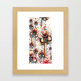 Carrot Flowers Framed Art Print