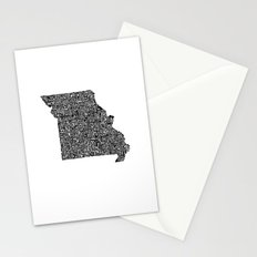 Typographic Missouri Stationery Cards