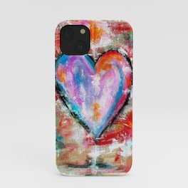 Reckless Heart, Abstract Art Painting iPhone Case