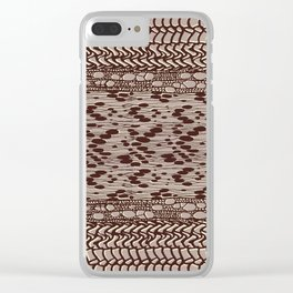 knit patchwork in sand Clear iPhone Case
