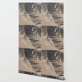 Palm Leaves Sepia Vibes #2 #tropical #decor #art #society6 Wallpaper