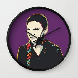 Greta Thunberg Pop Art Quote Portrait Wall Clock