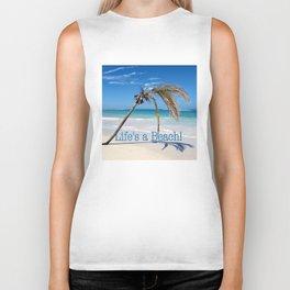 Landscape   Palm and Beach   Life's a Beach!   Nadia Bonello Biker Tank