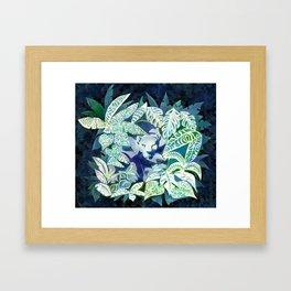 Jungle Jaguar Cat water colour illustration Framed Art Print