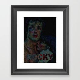 Rocky : Screenplay Print Framed Art Print