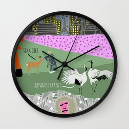 Wildlife of Japan Wall Clock