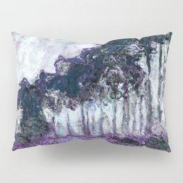 Monet : Poplars Violet Dark Blue Pillow Sham