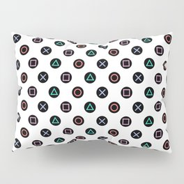 Play with Playstation Controller Buttons Pillow Sham