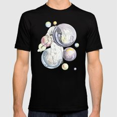 Bubbles Black Mens Fitted Tee MEDIUM