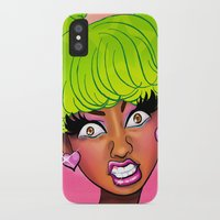 nicki iPhone & iPod Cases featuring Pink Face by KeishaC