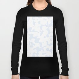 Large Spots - White and Pastel Blue Long Sleeve T-shirt