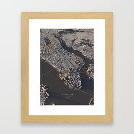 Manhattan - city map Framed Art Print