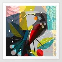 huia clock Art Print