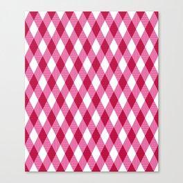 Pink rhombuses on white. Canvas Print