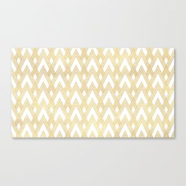 Art Deco Angles Pattern Canvas Print