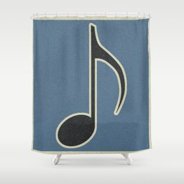 Eighth Note Blue Shower Curtain