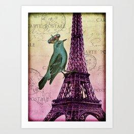 Parisien Bird Art Print