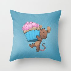 Cupcake Mouse Throw Pillow