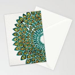 Peacock Mandala Stationery Cards