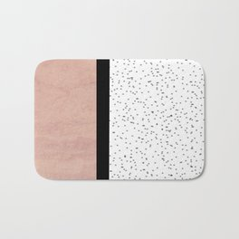 Pink marble and dots Bath Mat