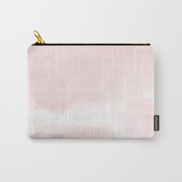 Pastel pink white modern hand painted watercolor. Carry-All Pouch