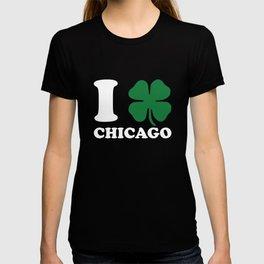 I Shamrock Love Chicago Clover St Patricks Day Irish T-shirt