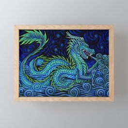 Chinese Azure Dragon Framed Mini Art Print