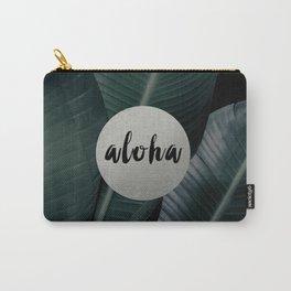 Aloha silver - banana leaf Carry-All Pouch