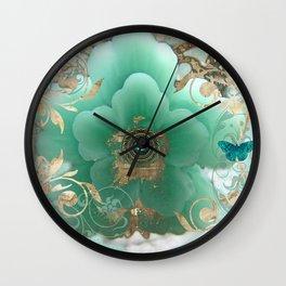 Gilded Sakura Wall Clock